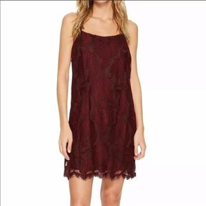 1. State | Burgundy Lace Party Dress NWT